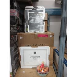 Case of Keepsake Dishes & Case of New Picture Frames