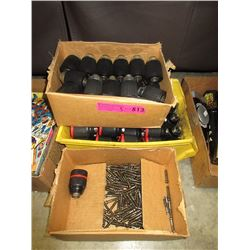 2 Boxes of New Drill Chuck & Box of Chuck Bolts