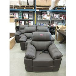New 3 Piece Leather Power Reclining Sofa Set