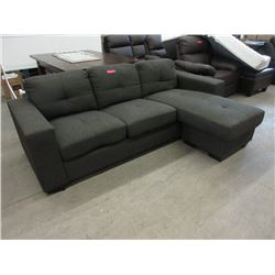 "New 89"" Fabric Sectional with Chaise End"