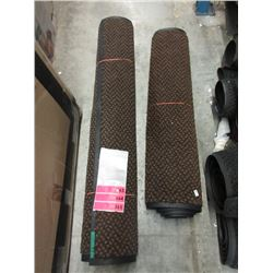 "Two 34"" Wide Rubber Backed Carpets"