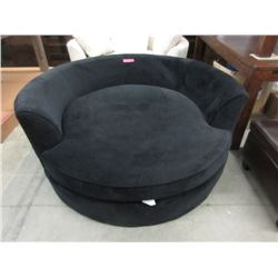Black Upholstered Cuddler Chair