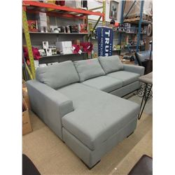 New Stylus Grey Fabric Upholstered Sectional