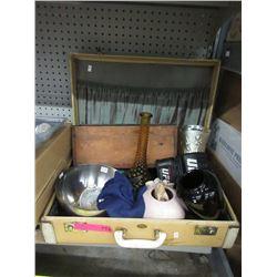 Vintage Suitcase & Contents