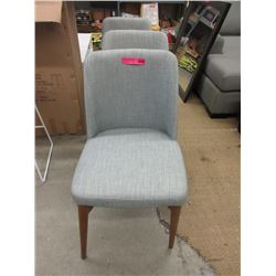 3 New Upholstered Dining Chairs with Wood Frames