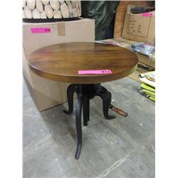 New LH Imports End Table w/ Industrial Crank Base