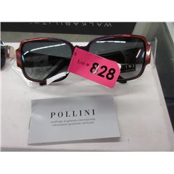 New Ladies Red Pollini Sunglasses