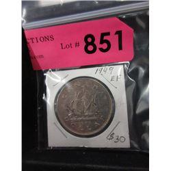 1949 Canadian Silver Dollar - .800 Silver