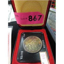 1972 Canadian Specimen Silver Dollar Coin