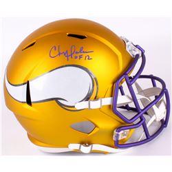 0e1f51ef3d4 Chris Doleman Signed Vikings Full-Size Speed Helmet Inscribed