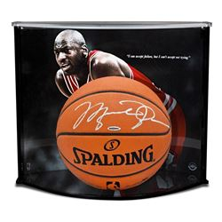 416315cecc8 Michael Jordan Signed Spalding Basketball with Display Case (UDA ...