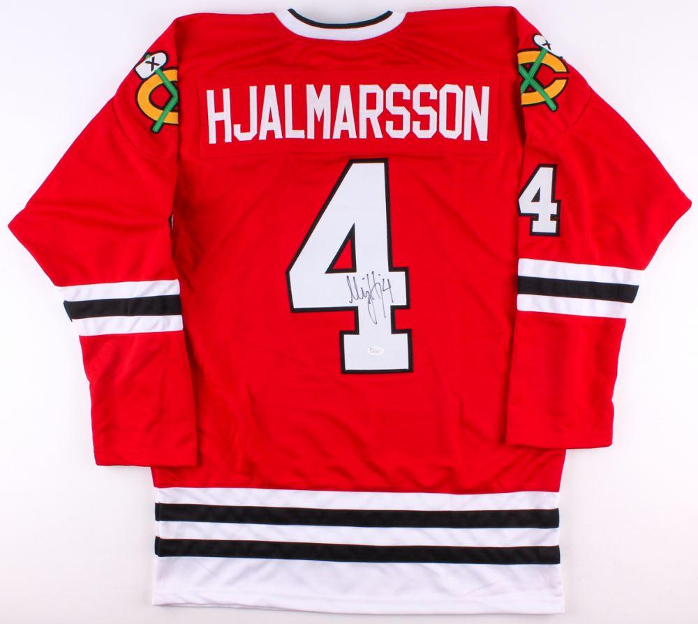 various colors 79051 16984 Niklas Hjalmarsson Signed Blackhawks Jersey (JSA COA)