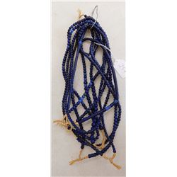 7 Strands Cobalt Blue Trade Beads