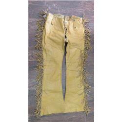 Buckskin Fringed Pants