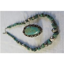 Antique Sterling Silver & Turquoise Jewelry