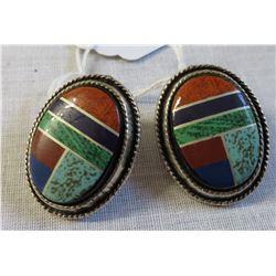 Silver & Stone Earrings