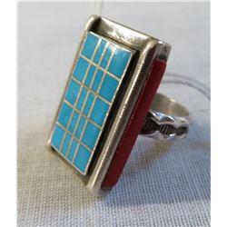 Zuni Sterling Silver & Stone Ring