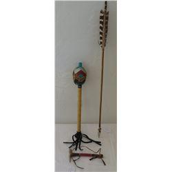 Native American Pipe, Arrow & Rattle