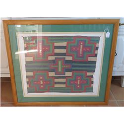 Framed Seriagraph Navajo Germantown Chiefs Blanket