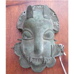 Benin Bronze Cat Mask