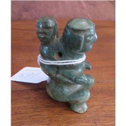 Olmec Jade Figure w/Baby