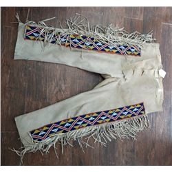 Beaded Deerskin Pants
