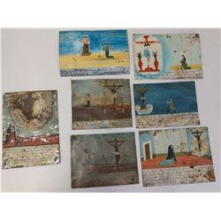 Collection of Antique Catholic Retablos