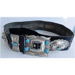 Turquoise & Leather Concho Belt