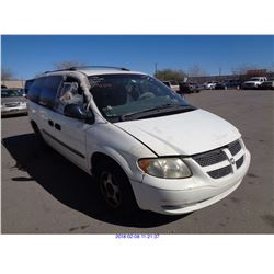 2003 - DODGE GRAND CARAVAN// SALVAGE TITLE