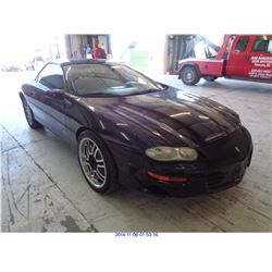 2000 - CHEVROLET CAMARO// SALVAGE TITLE