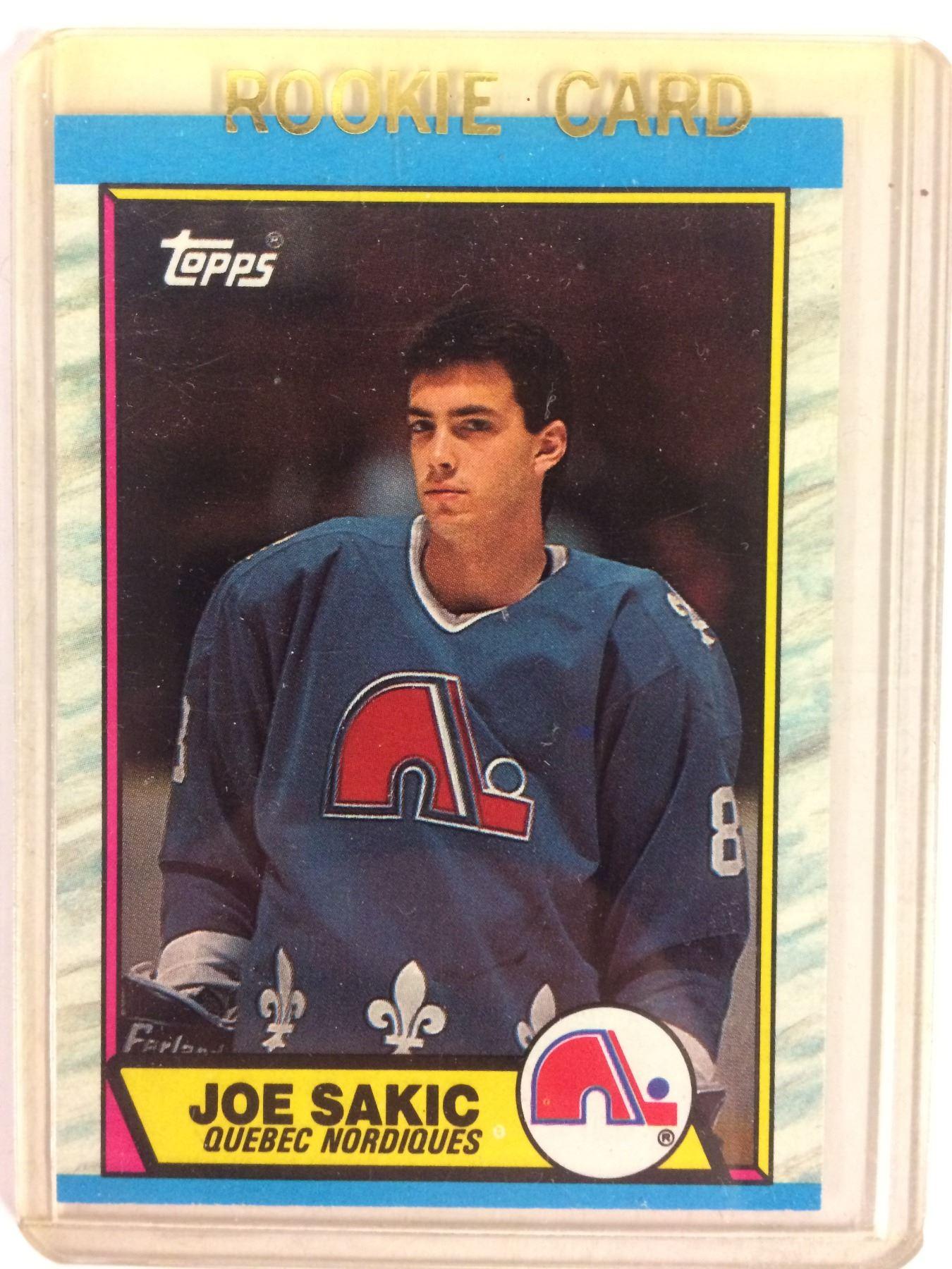 1989 90 O Pee Chee 113 Joe Sakic Rookie Card