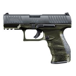 """WALTHER ARMS PPQ M2 9MM OD GREEN 15+1 4"""""""