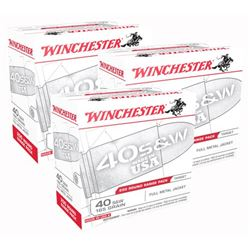 WINCHESTER AMMO USA .40SW 600RDS/CASE 165GR. FMJ