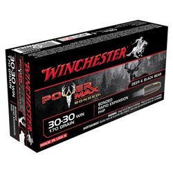 WINCHESTER AMMO POWER MAX .30-30 170GR. POWER MAX BONDED 20-PK