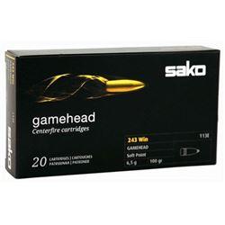 SAKO AMMO .243 WINCHESTER 100GR GAMEHEAD JSP 20-PACK