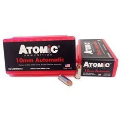 ATOMIC AMMO 10MM ACP 180GR. BONDED JHP 50-PACK