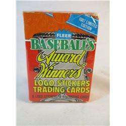 1987 Limited Edition Fleer Baseballs Award Winners Sealed