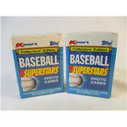 Lot of 2 Kmart Topps 1990 Baseball Superstars Packs