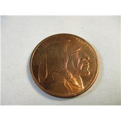 1 oz .999 Copper Indian Round
