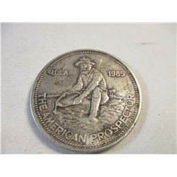 1985 American Prospector 1 Oz. Silver Round