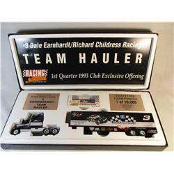 #3 Dale Earnhardt 1 of 10,000 Team Hauler 1:64 Scale