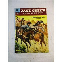 Zane Greys Storeis of the West 30,000 on the Hoof a Picturized Edition Dell Comic 1957