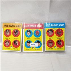 2012 Topps - MLB - Rookie Stars (3 Cards)
