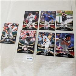2008 Upper Deck - MLB - Rookie Debut (7 Cards)