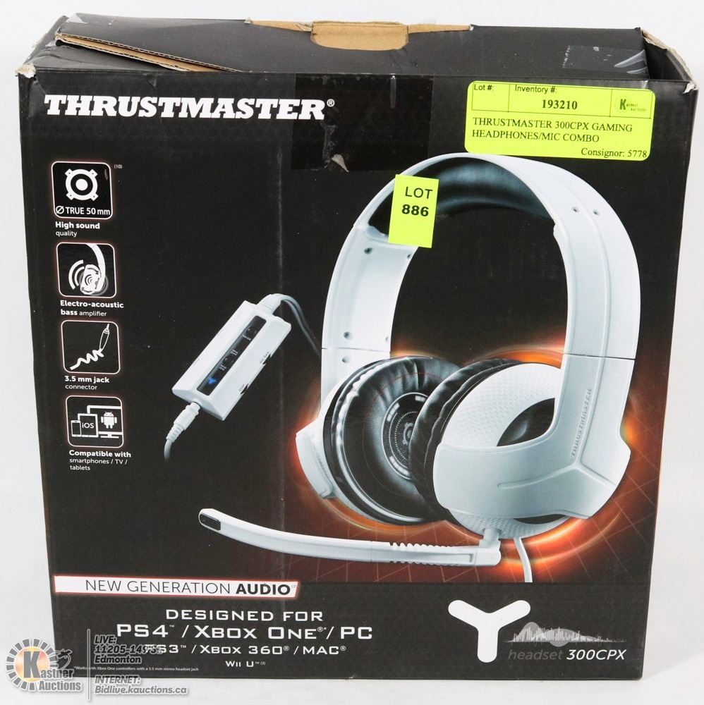 thrustmaster 300cpx gaming headphones/mic combo