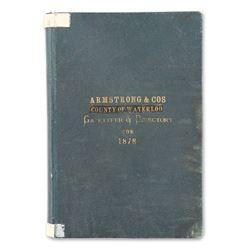 Waterloo County Gazetteer & Directory