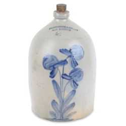 New Hamburg Merchant Stoneware Jug