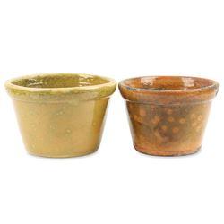 Pair Ontario Redware Bowls