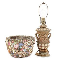Memoryware Redware Bowl, Lamp
