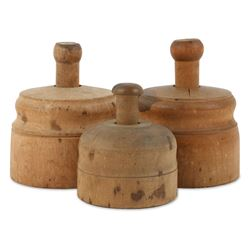 Carved Wood Butter Press Molds